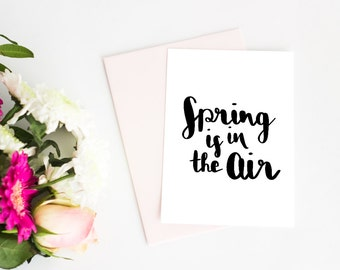 Invitation card, birthday, spring, spring, Handlettering, quotes, proverbs, invitation