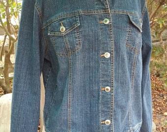 Coldwater Creek Denim Jacket Women's Size M/L