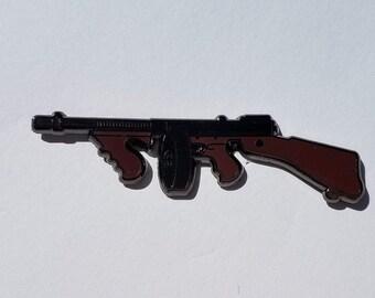 Tommy gun pin. lapel pin. Guns. Firearms