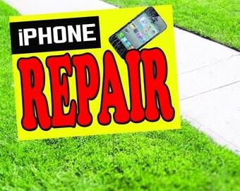 iPhone Repair Shop Yard Sign
