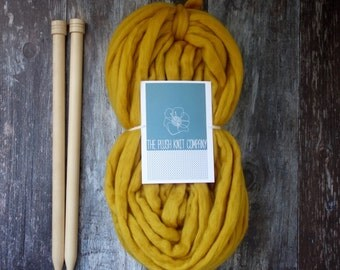 Big Hunk of Super Chunky Merino Yarn Big Knit Wool Ready to Use