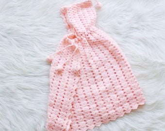 Vintage - Crocheted - Baby Girl - Cape