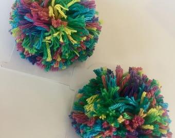 Pom Pom hair clip set