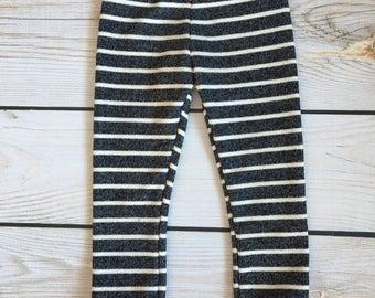 Black Stripe Skinny Sweats