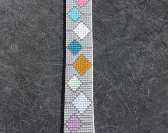 Cuff Bracelet woven with Miyuki beads