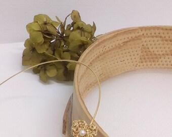 Dimar, tiara, wedding, ceremony, wedding, communion, Golden, Pearl, crochet, crochet