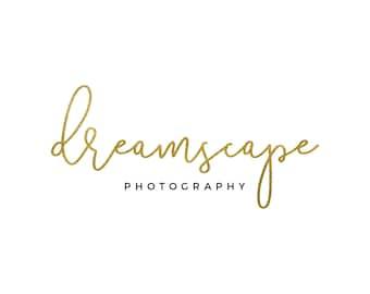 Gold Blog Header / Gold Logo / Gold Photography Logo Design / Cursive Logo / Gold Script Logo / Modern Logo / Simple Logo / Gold Foil Logo