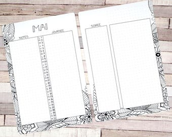 Monthly calendar Printable,May, Planner and Bullet Journal