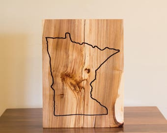 State of Minnesota Wood Art