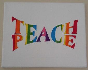Teach Peace Embroidery