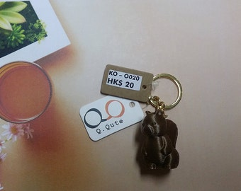 Squirrel 3D Print Keychain - Bronze