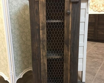 Rustic Pie Cabinet in Espresso Finish