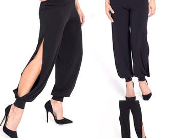 Ladies' Argentine Tango Trousers with sides slits