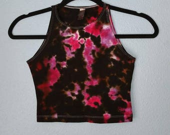 Magenta Water Color Tie-Dye Crop Top