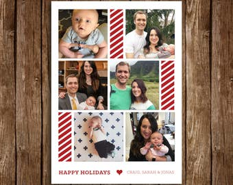 Candy Cane Holiday Card - DIY Printable
