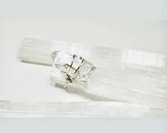 Clear Quartz Crystal point Ring