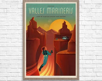 SpaceX Mars Travel Poster, Space Travel, Mars Poster, Mars Travel, Space Poster, Boys Room, Home Decor, Geek Decor