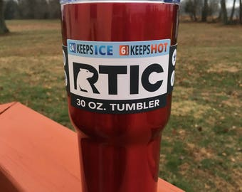 RTIC 30 oz Powder Coated Tumbler with Lid - Metallic Red