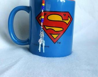 Superman TeaChain and Mug with tea samples gift