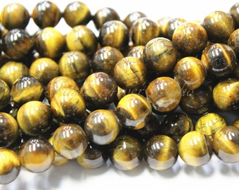 Tiger Eye Beads,4mm 6mm 8mm 10mm, Full Strand 15.5 inches, Gemstone Beads, Beading Suppliers, Jewelry Suppliers
