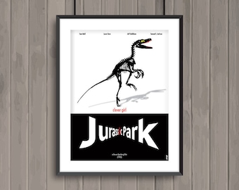 JURASSIK PARK, minimalist movie poster