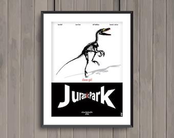 JURASSIK PARK, minimalist movie poster