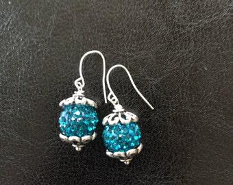 Blue Rhinestone Sparkle