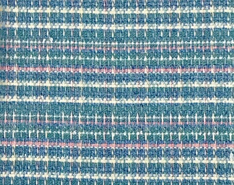 """Italian Chanel Suiting Fabric Sold By The Yard in Sky Blue/Pink & Red/Royal Blue 62"""" Wide"""