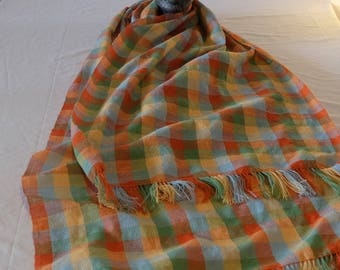 Plaid scarf / shawl