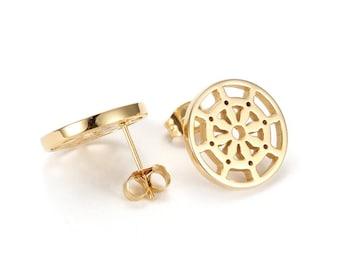 Dharma Wheel Earrings