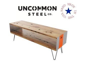 Industrial Entertainment Center, TV Stand, Reclaimed Wood TV Console, Console Table, Media Console, Modern TV Stand, Pallet, Urban, Chic