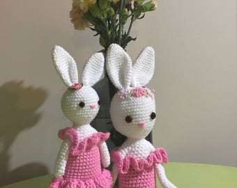 READY TO SHIP Charlotte Ballerina Bunny - handmade crochet