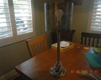 Industrial art lamp, Deco, Man Cave , Repurposed