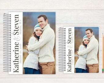 Wedding Journal, Wedding notebook, custom Wedding journal, Personalized Bridal journal, Personalized journal, script ampersand