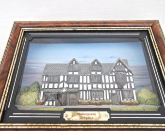 Hand Painted Miniature 'Shakespeares Birthplace'