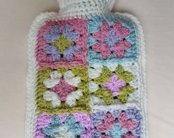 Crochet Hot Water Bottle Cover with 500ml Hot Water Bottle