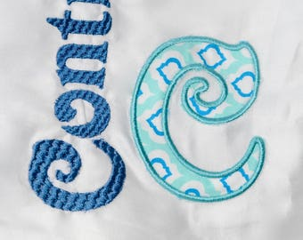 Initial Pillowcase with last name or first name! Super Cute!!