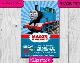 Thomas Train Invitation / Thomas Train Birthday Invitation / Thomas Party / Thomas Birthday / Thomas Printable / Thomas Card / Thomas Invite