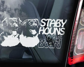 Stabyhouns on Board - Car Window Sticker - Stabyhoun Stabij Beike Dog Sign Decal - V02