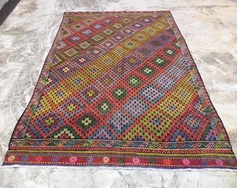 pink kurdish kilim rug45x910 feet 136x300 cm. Black Bedroom Furniture Sets. Home Design Ideas