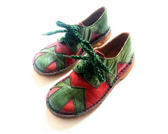 NeW old stock ShoEs size 11 boys 4-5Y reTro VinTage shoes oldschool leather hipster 29/30