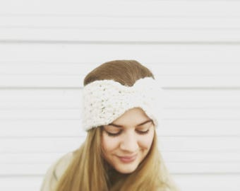 The Chloe Ear Warmer//Crochet Headband//Handmade Ear warmer