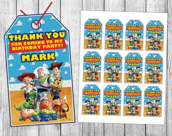 Toy Story Thank You Tags, Toy Story Favor Tags, Toy Story Gift Tags, Toy Story Tags, Toy Story Tag Printable, Toy Story Birthday Tags