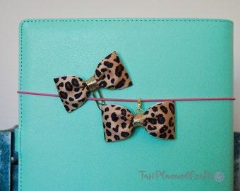 Leopard Bow Paper Clip | Leopard Bow Charm| Planner Charm|Planner Paper  Clip|