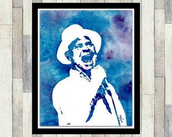 The Tragically Hip, Gord Downie, Original Watercolour Painting, Wall Art, Poster, Pop Art