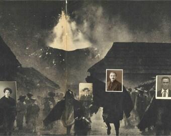 Volcano framed collage