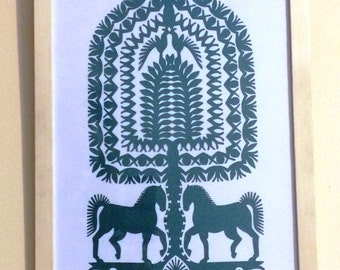 Original papercuts from Kurpie called wycinanki #11
