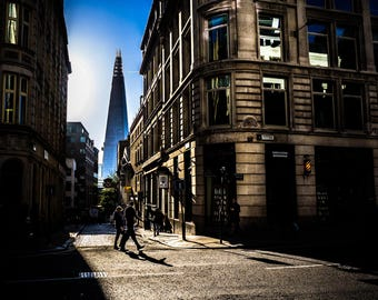 London photography, London street photography, The Shard, fine art photography, City of London, London prints, Home Decor, Wall Art, Urban