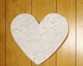 White Heart Pinata. wedding pinata. anniversary pinata.