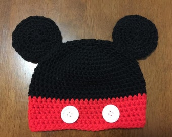 Mickey Mouse Crochet Hat *free shipping*